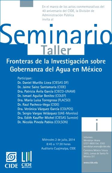 seminario 2 de Julio Gobernanza del Agua en México (1)