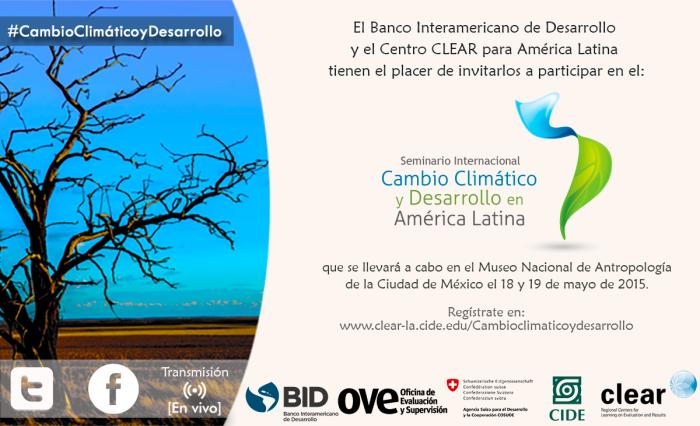 invitación electrónica Seminario de Cambio Climático