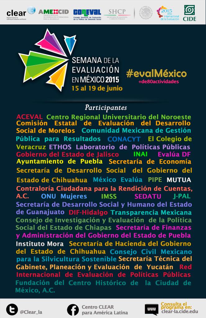 Cartel General - Semana de la Evaluación en México (1)