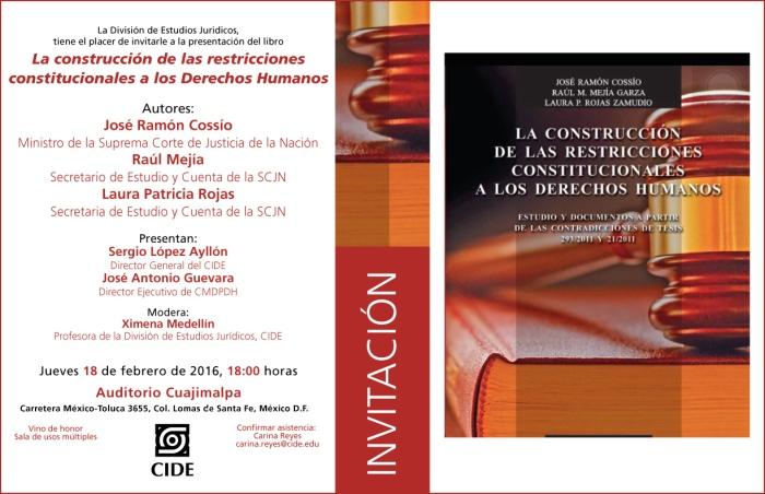 invitacionpresentacionlibro18febrero La CONSTITUCIÓN