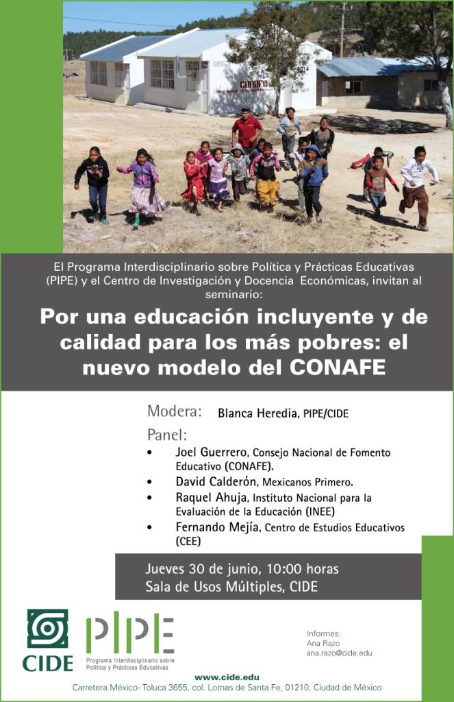 Seminario «Por una educación incluyente y de calidad para los más pobres»: el nuevo modelo de CONAFE